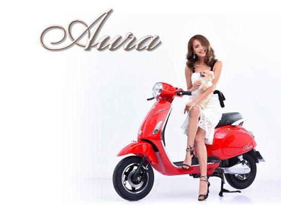 Xe máy điện Pega Aura Đỏ mang lại vẻ quý phái, sang trong cho chủ nhân